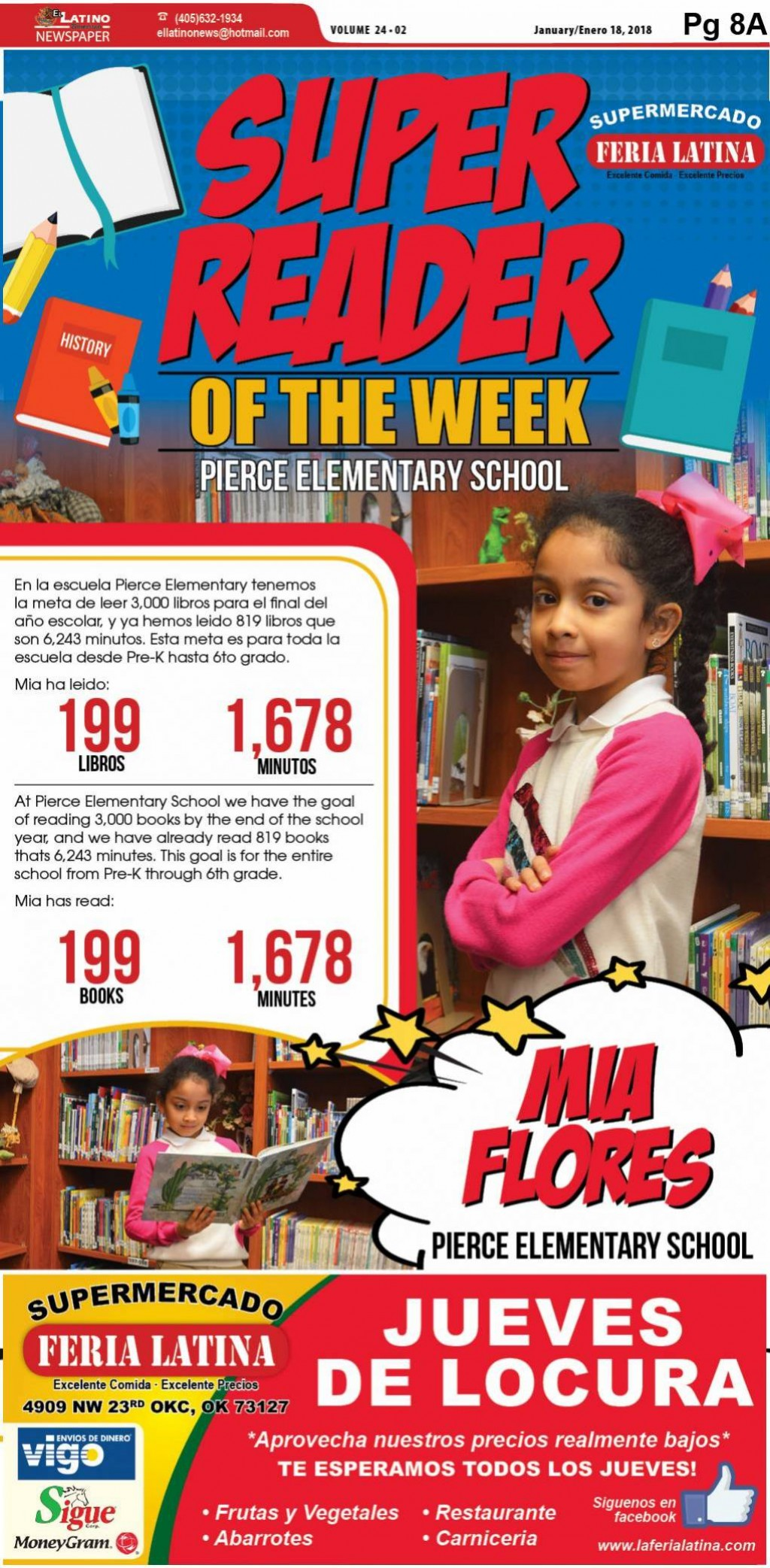 Super Reader of the Week: Mia Flores