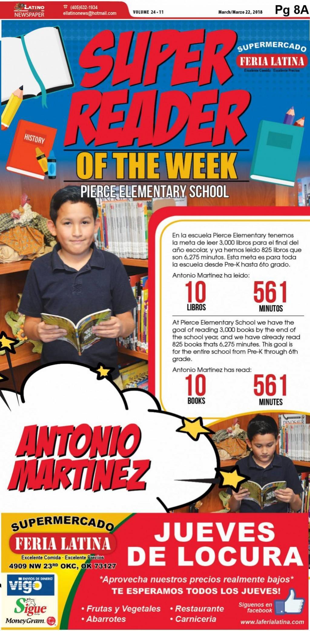 Super Reader of the Week: Antonio Martinez