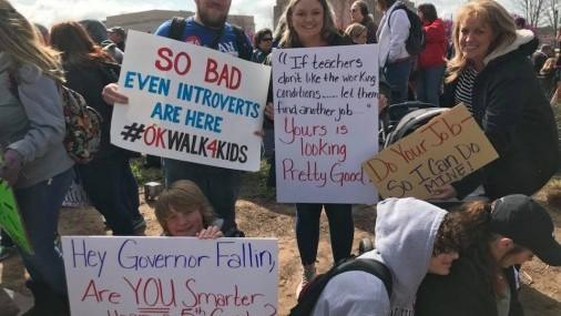 Histórica Marcha  de Maestros al Capitolio de Oklahoma