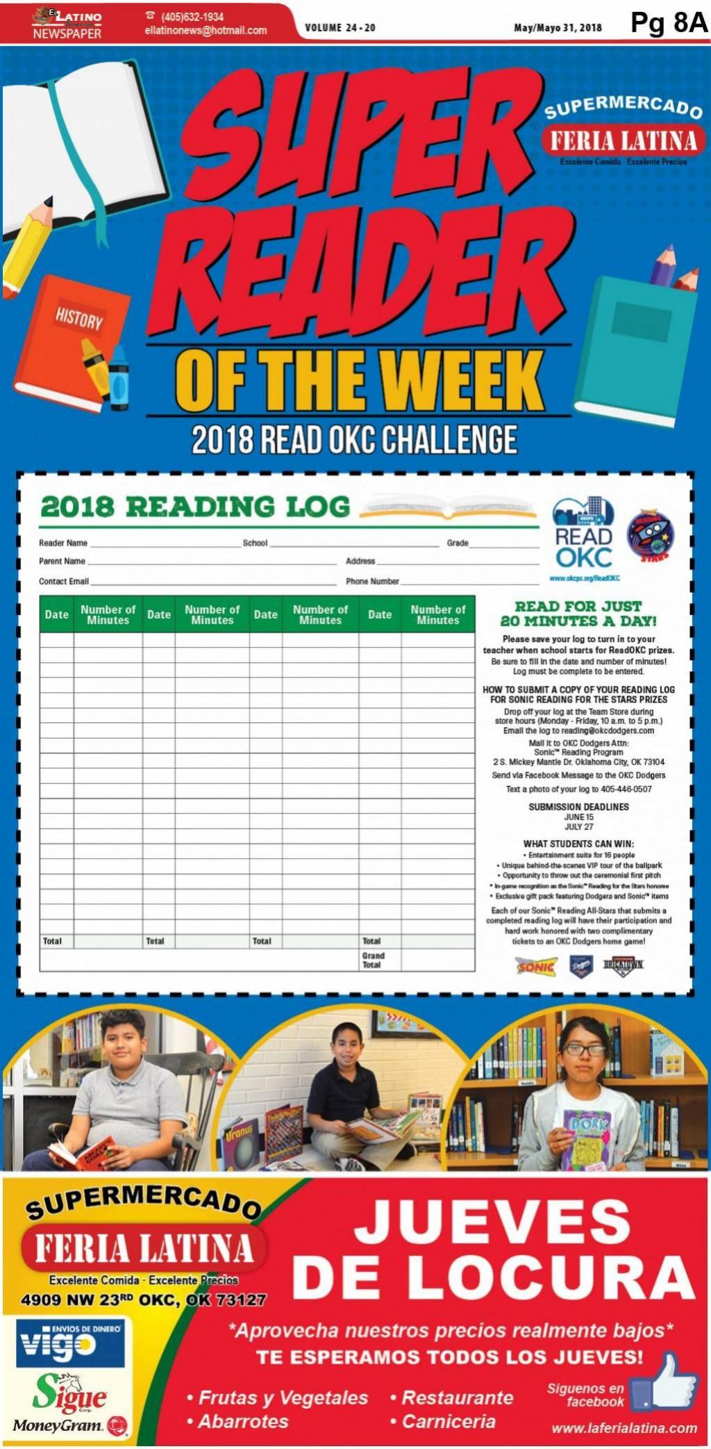 Super Reader of the Week: 2018 Read OKC Challenge