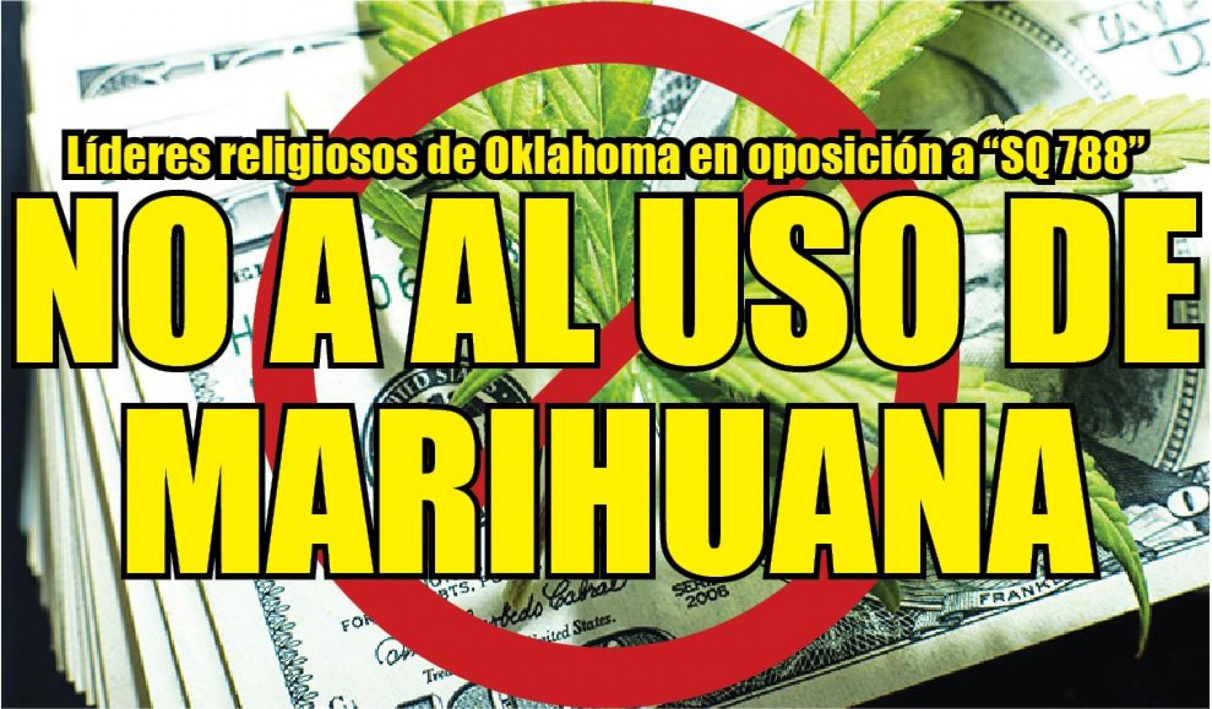 "Líderes religiosos de Oklahoma en oposición a ""SQ 788"" No a al uso de Marihuana"