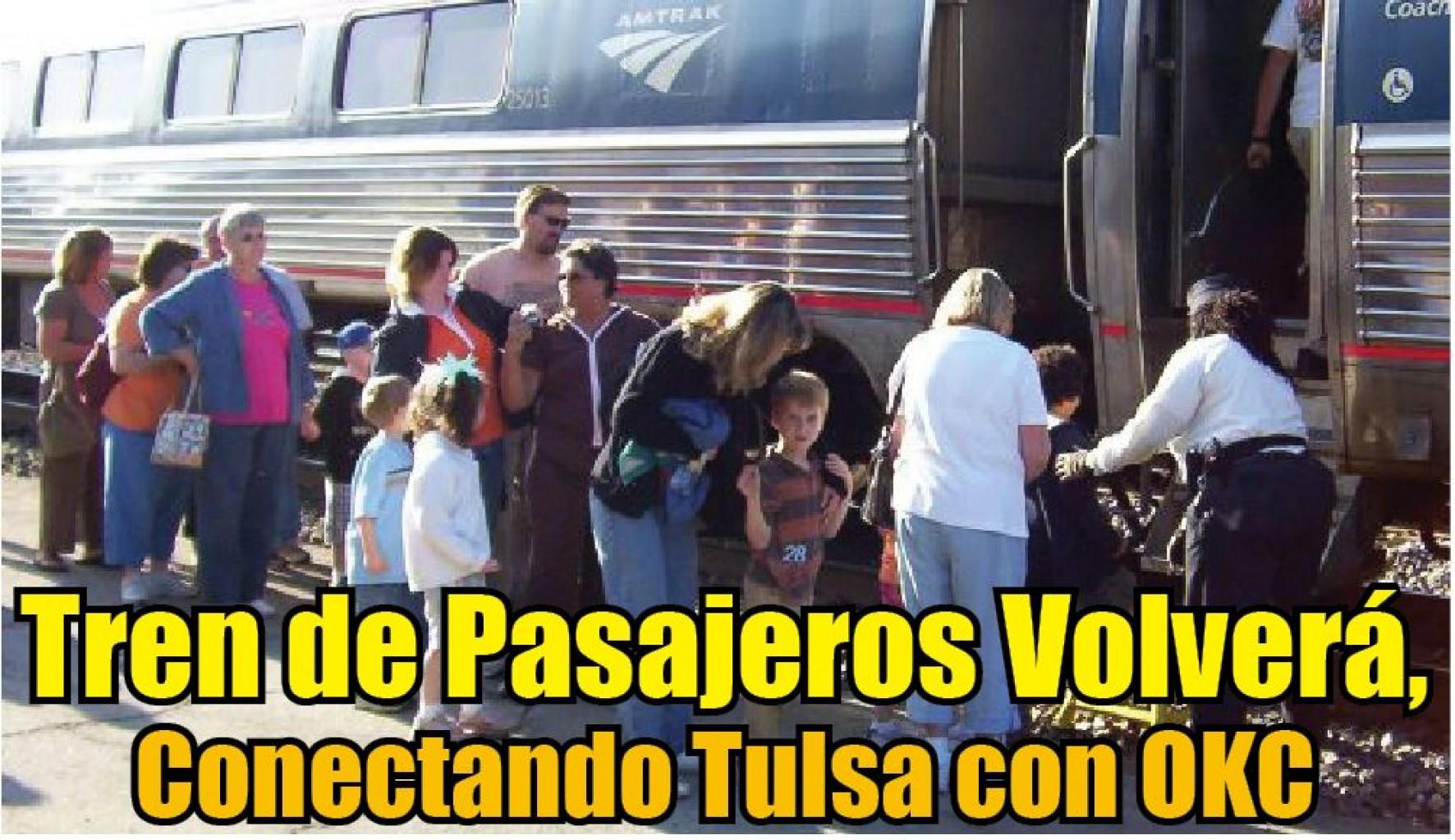 Tren de Pasajeros Volverá, Conectando Tulsa con OKC