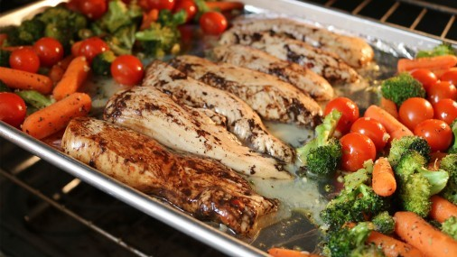 Pollo Balsámico con Vegetales