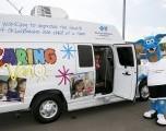 Combata la gripe en las clínicas móviles Oklahoma Caring Vans