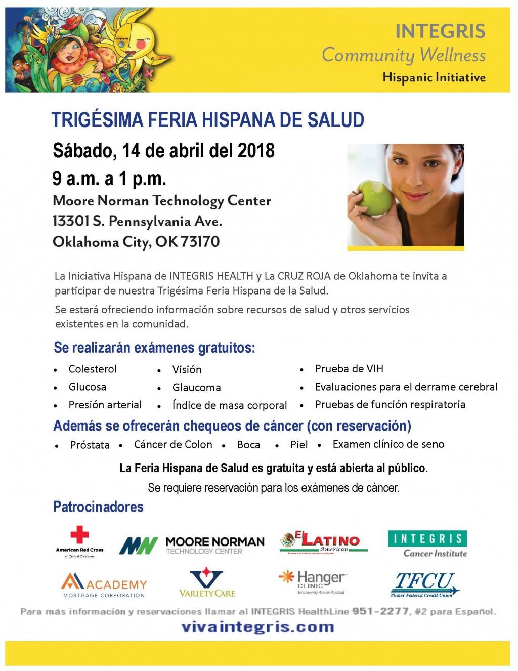 TREINTA AÑOS OFRECIENDO SALUD  Feria Hispana de la Salud 14 DE ABRIL