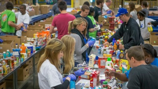 Regional Food Bank Needs 1,400 Volunteers  in April to Prepare, Pack and Sort Food for the Teacher Walkout and Beyond