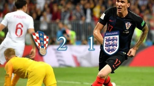 (2-1) Croacia hizo historia en Moscú eliminado a Inglaterra