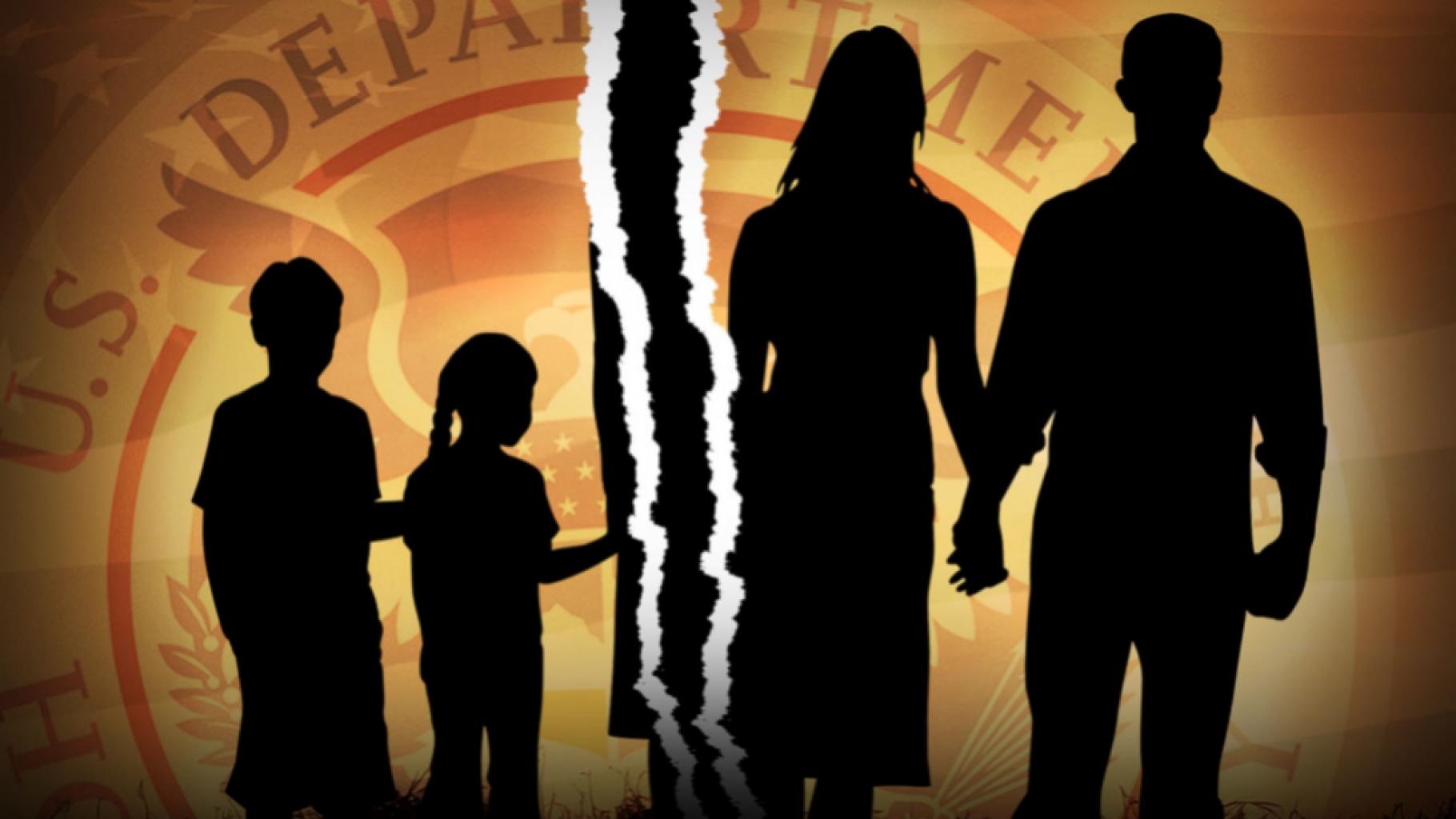 Familias migrantes separadas lejos de la frontera
