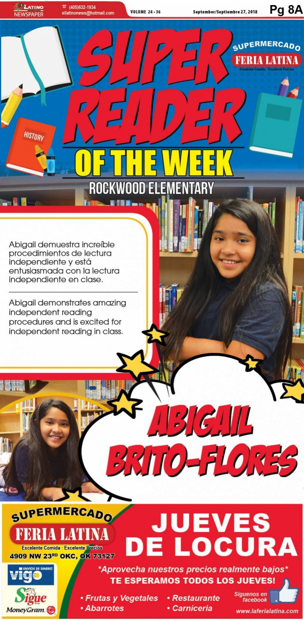Super Reader of the Week: Abigail Brito-Flores