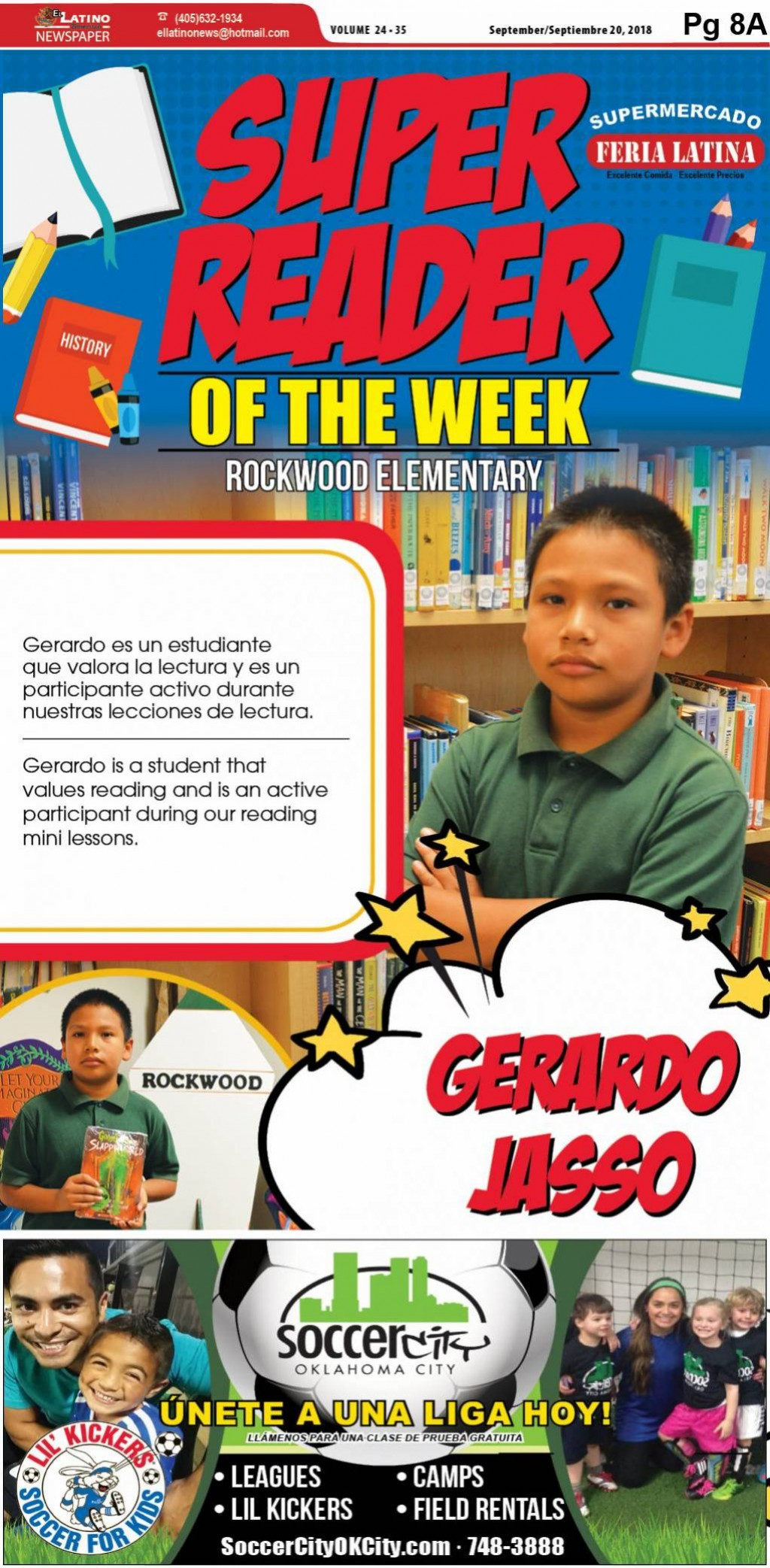 Super Reader of the Week: Gerardo Jasso