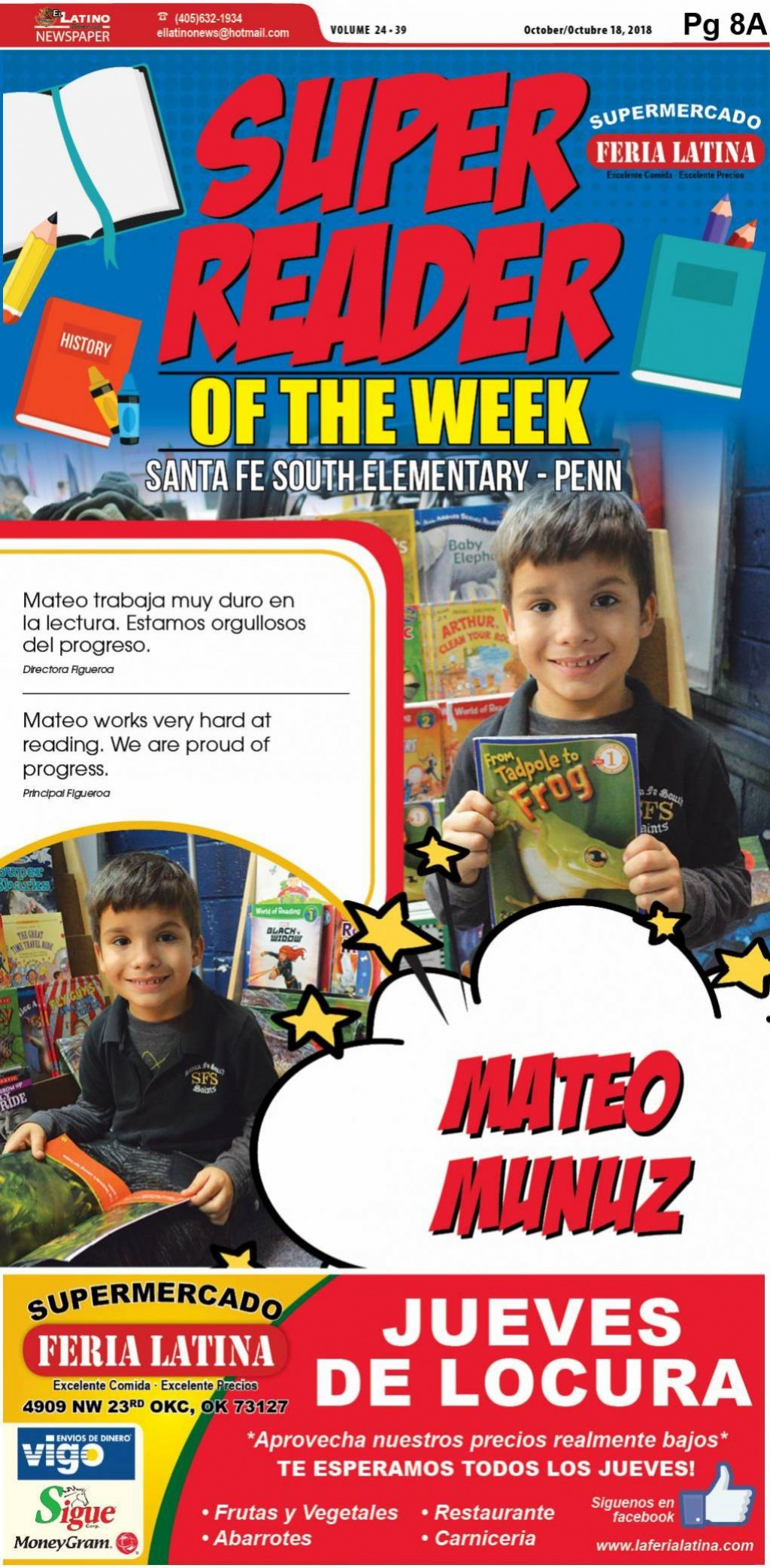 Super Reader of the Week: Mateo Munuz