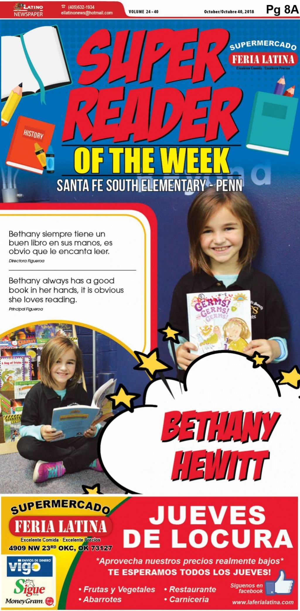 Super Reader of the Week: Bethany Hewitt