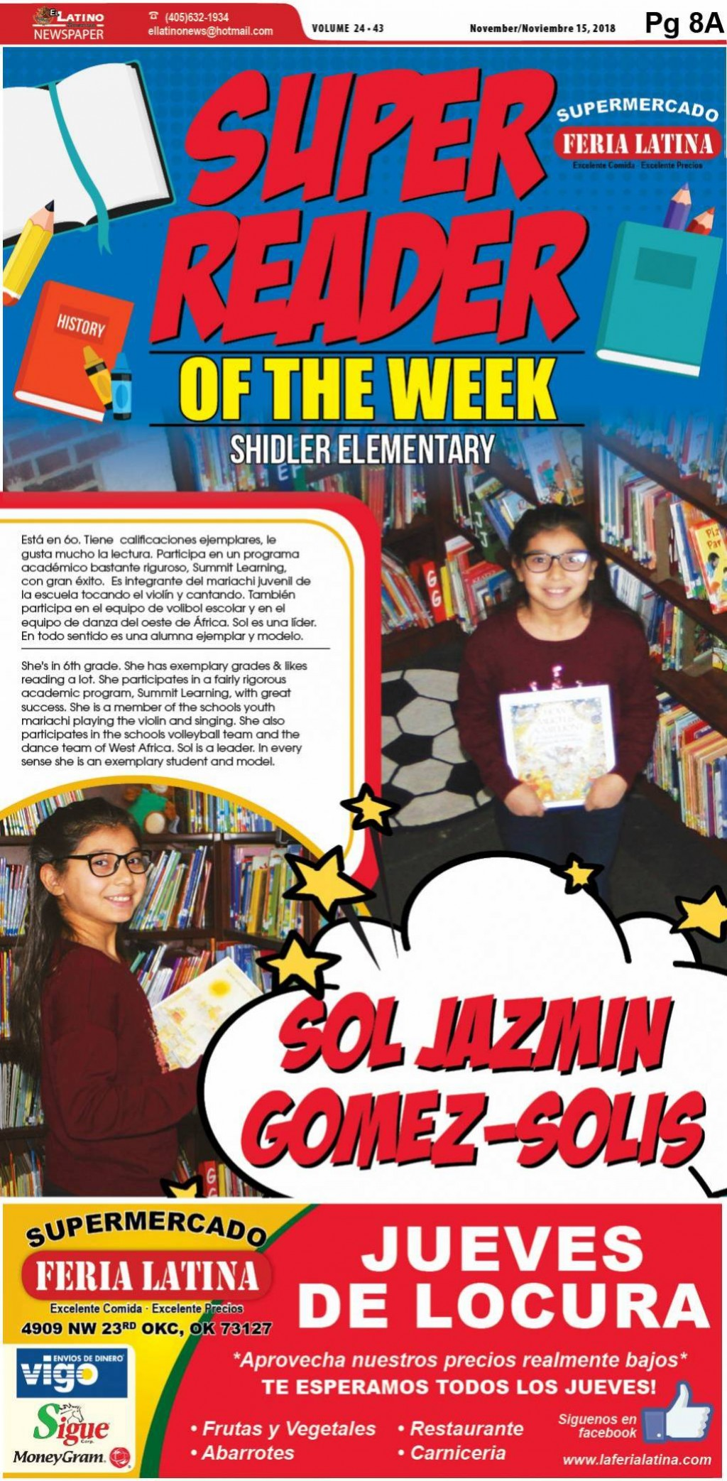 Super Reader of the Week: Sol Jazmin Gomez-Solis