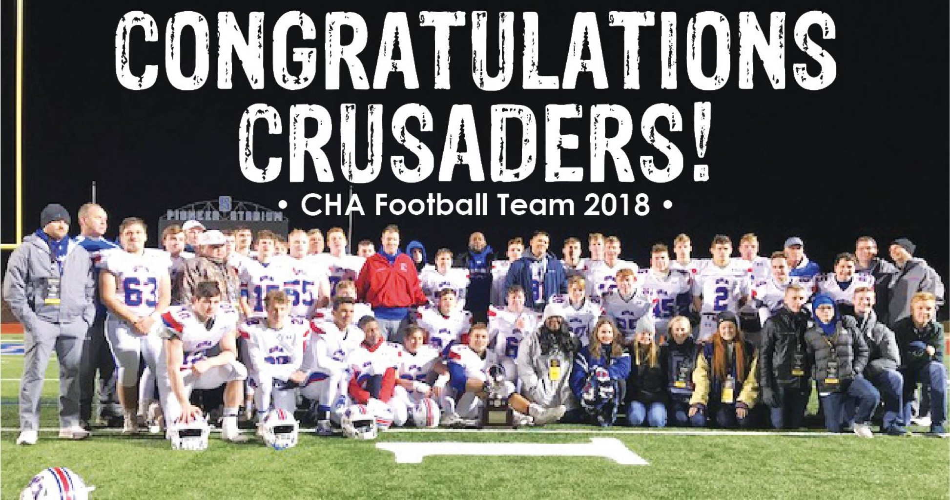 Outstanding football season for CRUSADERS