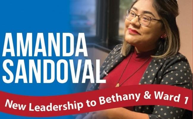 Amanda Sandoval New Leadership to Bethany & Ward 1
