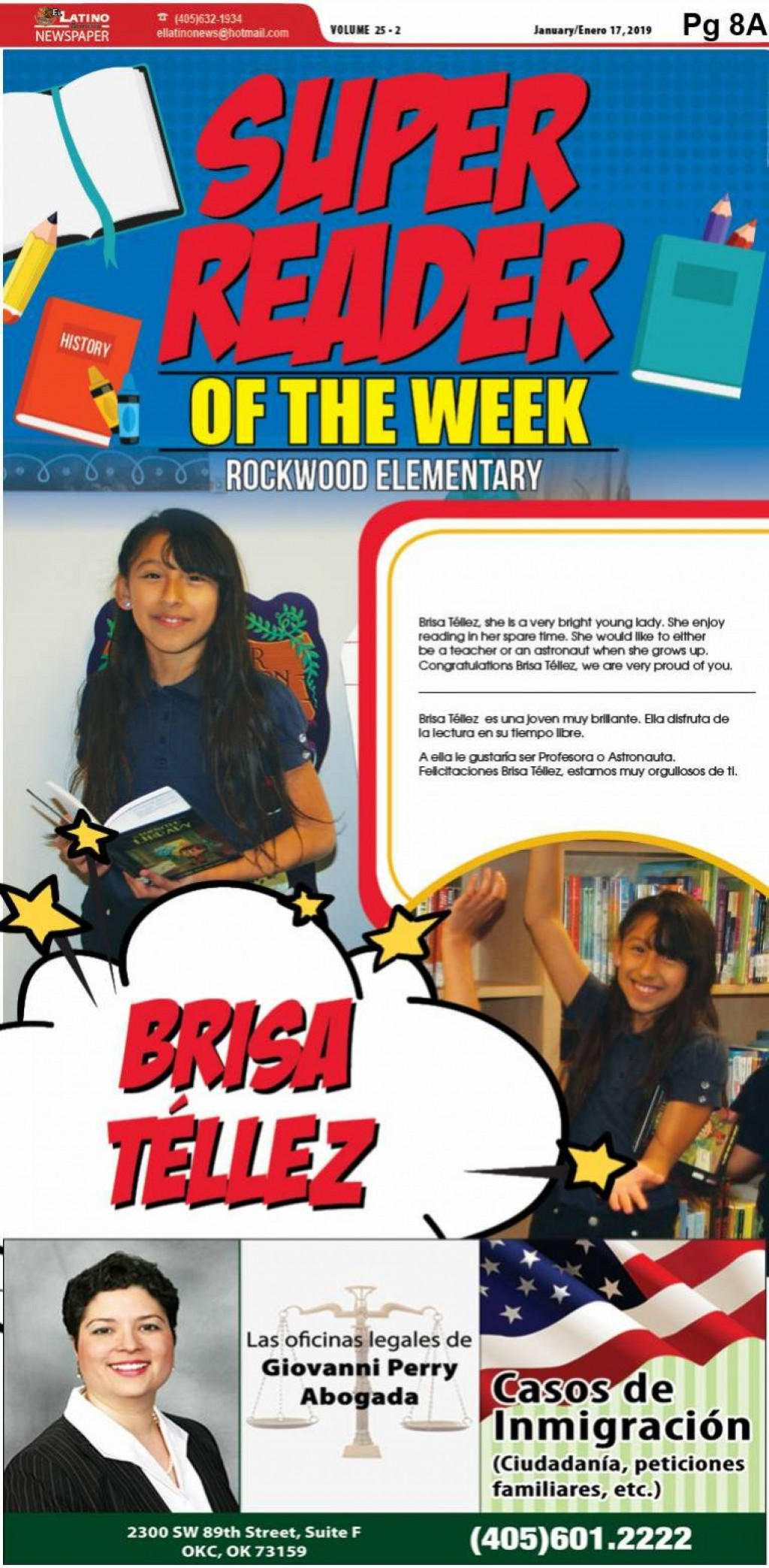 Super Reader of the Week: Brisa Téllez