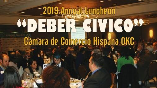 "2019 Annual Luncheon ""DEBER CIVICO"" Cámara de Comercio Hispana OKC"