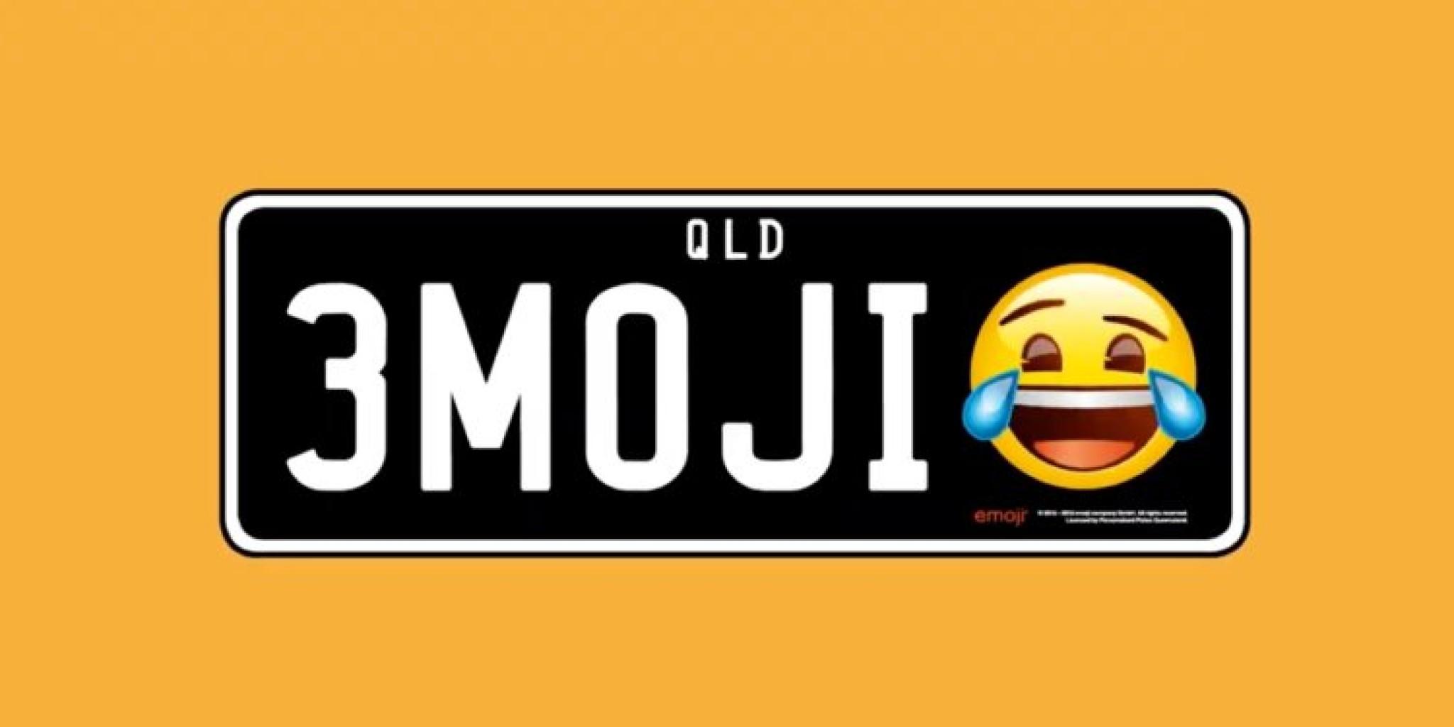 """Que país deja usar los """"Emojis"""": en las placas de los automóviles?"""