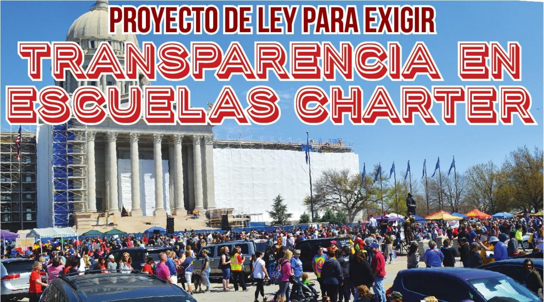 Proyecto de Ley para Exigir  Transparencia en Escuelas Charter