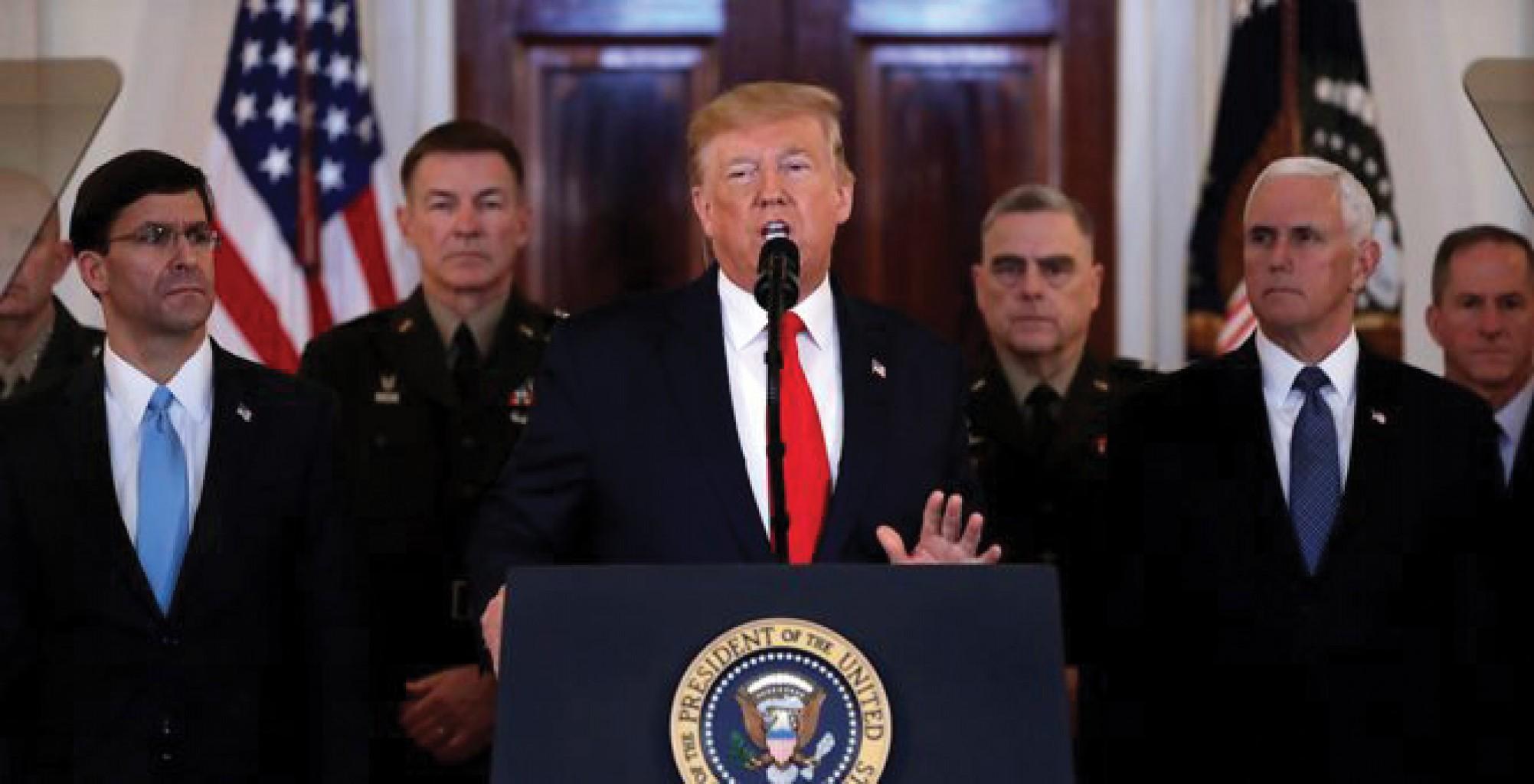 Presidente Trump pidió a los aliados europeos y a China que abandonaran el acuerdo nuclear iraní